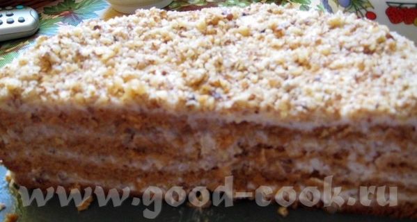 "Торт ""Медовик"" 2 яйца 120 г сахара 120 г меда 240 г муки 0,5 ч"