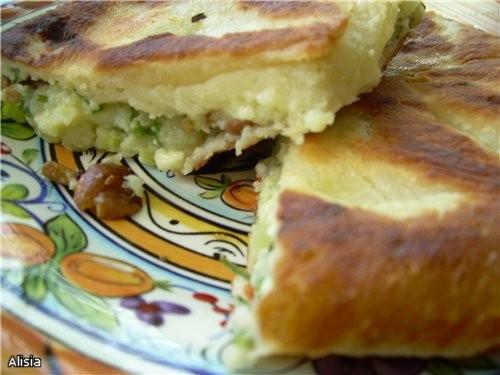 """Всем привет, Люся я принесла Танюшкины """"Лепешки с сыром и картошкой"""" , замечательный рецепт вкусный..."""