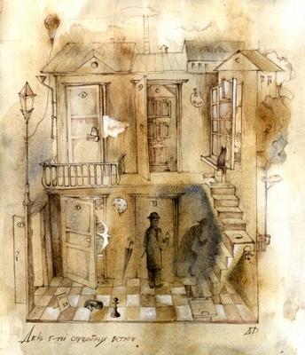 27 июля День пяти случайных встреч Первая - в булочной возле кофейни наверное с кошкой, а может - с...