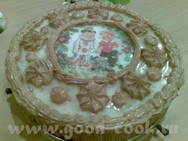 Торт медовый с клюквенным суфле