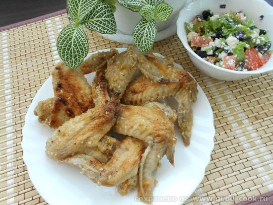 крылышки в соево-медовом соусе