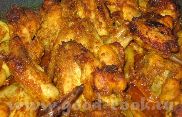 """Запеченая курица в специях Masaledar murghi Источник: """"Индийская кухня"""", Мадхур Джаффри"""