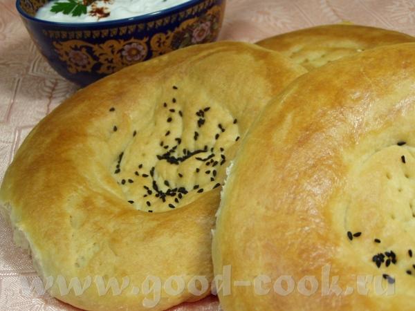 Хлеб на картофельном отваре с отрубями и чесноком Патыр(узбекские лепешки) - 3