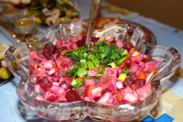 Вкусный салатик с селёдкой Отварить овощи: морковь, картофель, свеклу