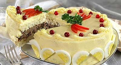 Бутербродные торты рецепт рецепт