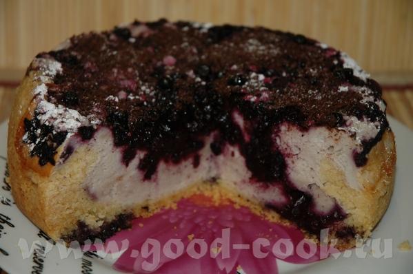 Творожный пирог с черникой Рецепт от Скрипкиной Анастасии 150 г сливочного масла или маргарина 150...