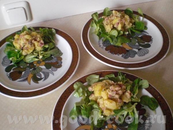 повторюсь с рецептом Картофельного салата, сейчас с фото: а это собственно сам рецепт: Kartoffelsal...