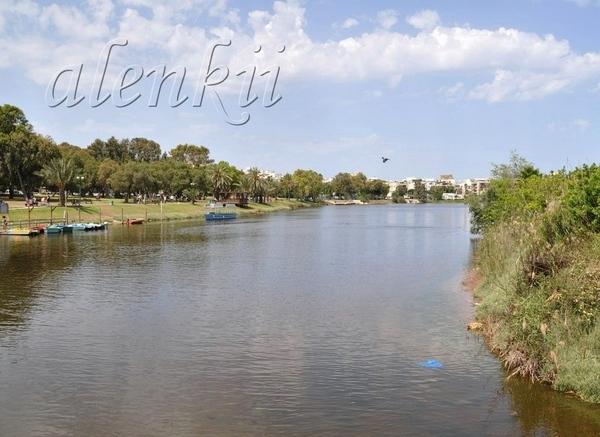 Сначала это весеннее утро мы провели на реке Яркон - 2
