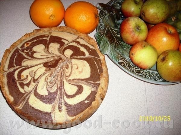 Ищщо моЁ фантазиЁ одно, последнее за сегодняшний вечер Чизкейк мраморный Основа - песочное тесто: о...