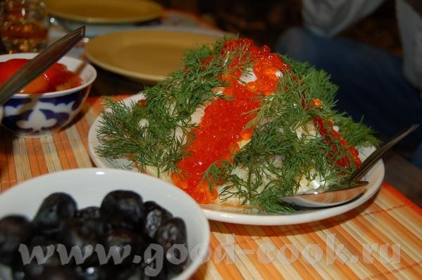 По просьбам принесла салатик с нашего новогоднего застолья