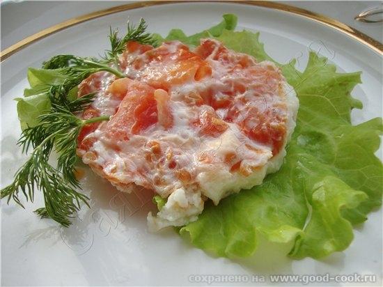 3/50 рецептов из яиц Белковый омлет с томатом белок одного яйца 1/4 часть помидорки соль перец слив...