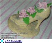 Пирвет,девченки,300 лет не виделись))) принесла вам свои работы,кидайте тапками,не стесняйтесь))) туфля и мышь из шоко... - 4