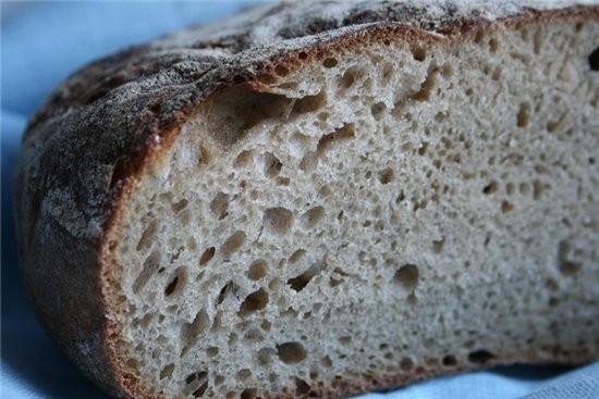 Парижский цельнозерновой хлеб Лайонела Полиана (Lionel Poilвne bread of Paris ) Основа рецепта и ви... - 2