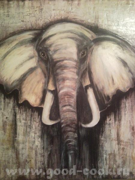 вот такого слона наваяла