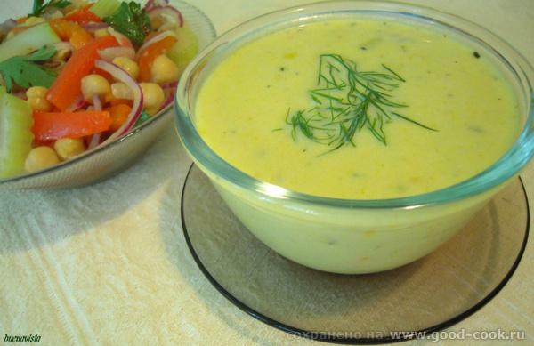 Блюда от , La Dolce Vita : Салат из маринованного гороха нут Суп из цуккини с грушей - 2