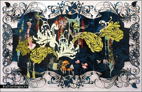 Нестардантные картины Резы Блэтман Она -3-4 месяца разрабатывает на компьютере дизайн,потом вырезае... - 3