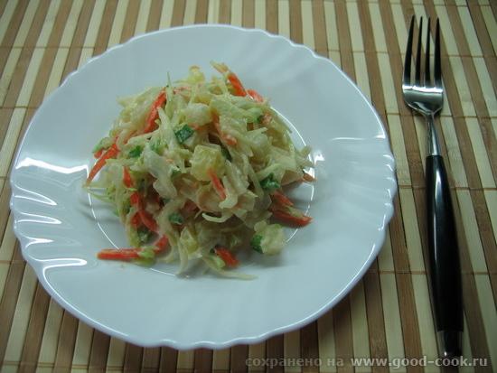 Coleslaw с молодым картофелем