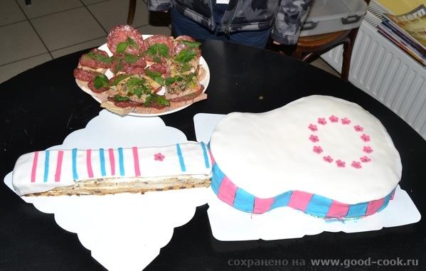 Торт в форме гитары