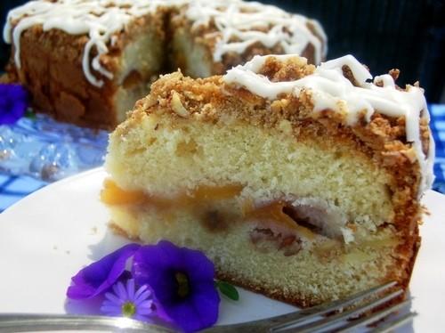 Персиковый пирог с пахтой источник creampuffsvenice для начинки и поверхности: 1 чашка муки 1/2 чаш...