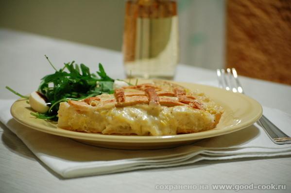 Замечательный пирог из песочного теста с сырным ароматом и пикантным вкусом, с мягкой начинкой и сл...