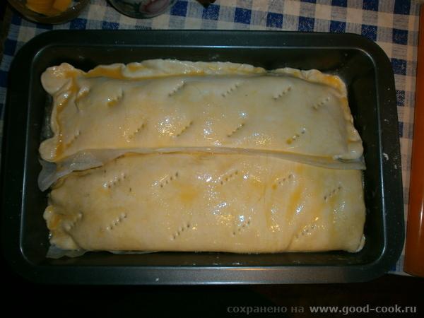 Слоёный пирог с баклажанами и мясом 2