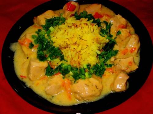 Продолжение: Курица в сливочном соусе с рисом