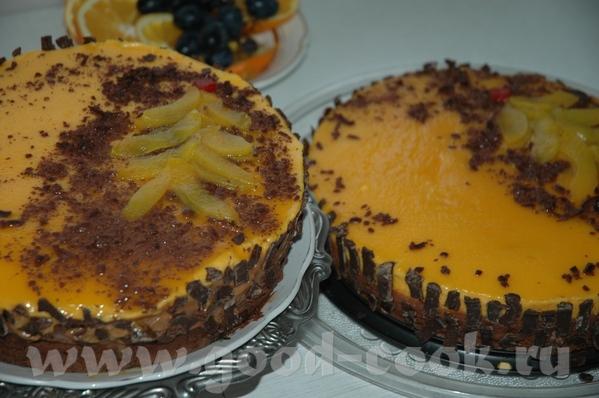 Шоколадно–абрикосовый торт из книги Янник Лефор «Шоколадный день» , упрощённый из-за отсутствия абр... - 2