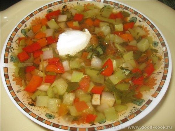 Нарезанные овощи помещаем в кастрюлю ( ковш «от Шефа на 1, заливаем холодной водой, добавляем 2-3 горошка перца (по жел... - 2