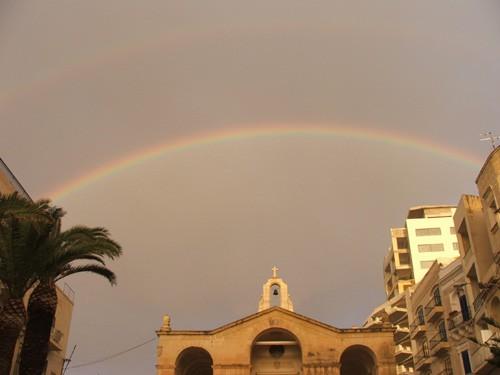 а вы видели двойную радугу