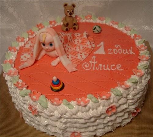тортик на 1 годик, тортов на заказ для свадеб и вафли.