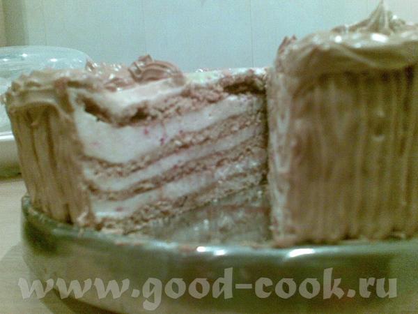 Торт медовый с клюквенным суфле - 2