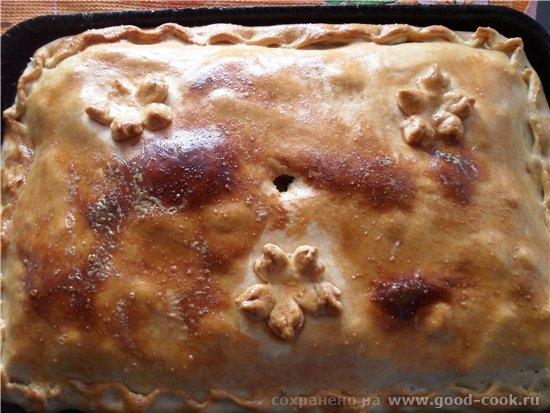 Пирог с мясом и картофелем Приятного аппетита