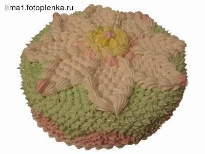 А вот такой тортик получился из крема, который я показала на фотке