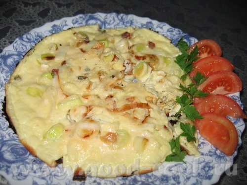 """Омлет с луком порей - Блюда от Lenuska, """"Оригинально И Просто"""