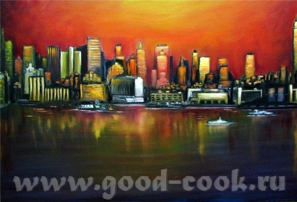 А вот тaк закат рисует xудожники: Здесь рисунки Красный закат неба Закат в Нью-Йорке Африканские бо... - 2