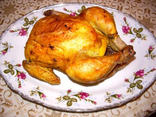 Курица с лимоном 1 средняя курица 1 лимон 1