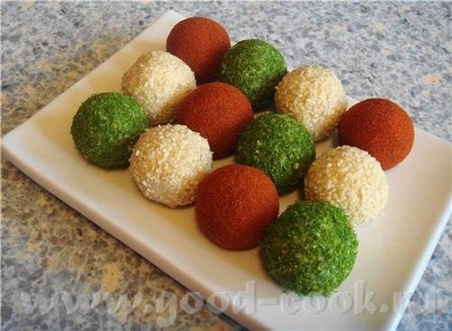ОТСЮДА От La Perla Закуска - сырные шарики Могут быть из любых сочетаний сыра, тёртого на мелкой тё...