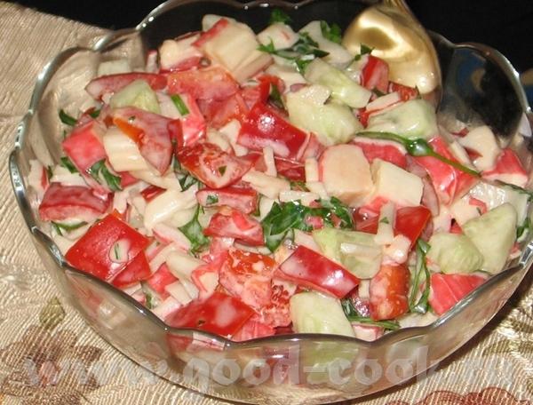 Салат из крабовых палочек (рецепт от с кукинга, словами автора) на 4 порции Состав: 1 небольшая упа...