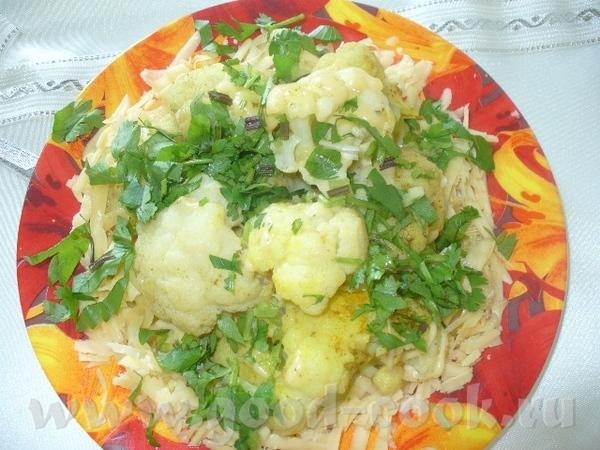 цветная капуста с сыром нужно капуста цветная 2луковицы зелень 200гр сыра российскогщ приправы карр...