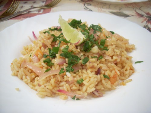 Классический тайский жареный рис Ризотто с лесными грибами Ризотто с копчёной рыбой и пореем Ризотт...