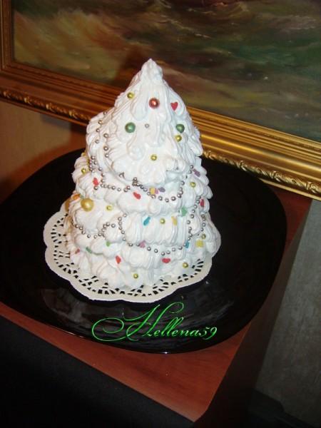 Торт Елка Внутри бисквит +крем сливки +ягоды - 2