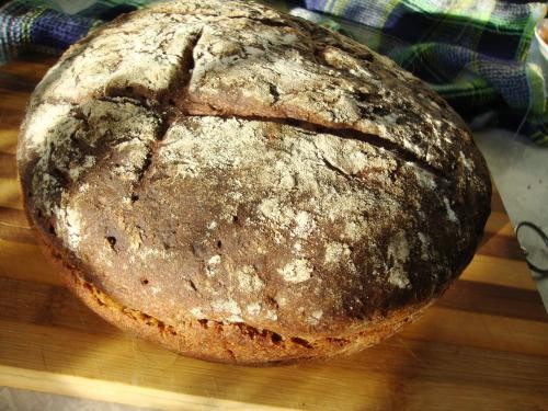 С лета осталось много сухого кваса и солода, можно испечь хлеб - 3