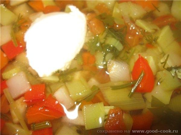 Нарезанные овощи помещаем в кастрюлю ( ковш «от Шефа на 1, заливаем холодной водой, добавляем 2-3 горошка перца (по жел... - 3