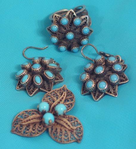 Эти серьги и кольцо мне привезла сестра из Египта