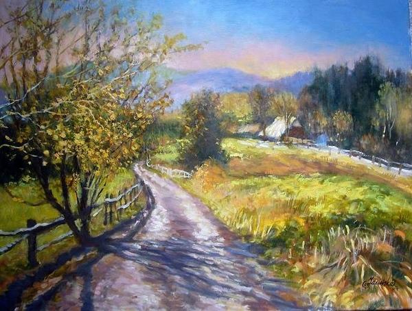 """Krystyna Jasinska Верхола Алёна- """"Рисую"""" картины природными материалами - листьями, цветами, корой..."""