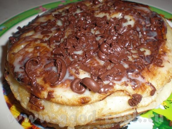 Блинчатый торт Выпекаем обычные блины