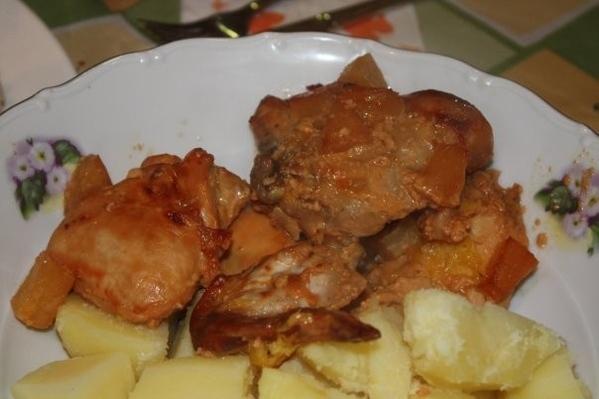 Девочки, вот еще угощений немного Ананас Рафаэлло Матканаш Курица в апельсиновом соусе по трецепту... - 4