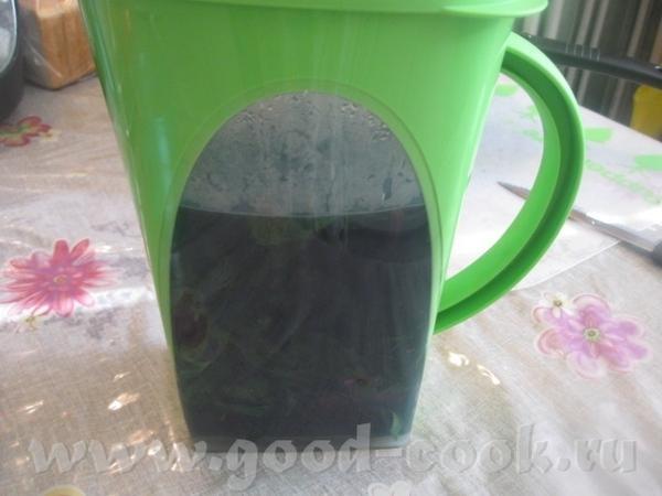 Наливаем в кувшин крутой кипяток - чуть больше половины кувшина (чтобы базилик покрыть водой), накр...