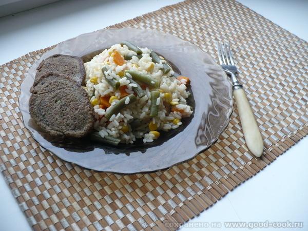 Печеночные оладушки с рисом.