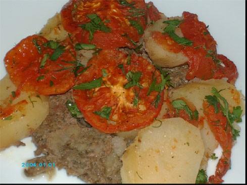 """предлагаю вам очень простое, но вкусное блюдо - """"Кюфта у батата би санийя"""" (Kюфта с картошкой в дух... - 2"""